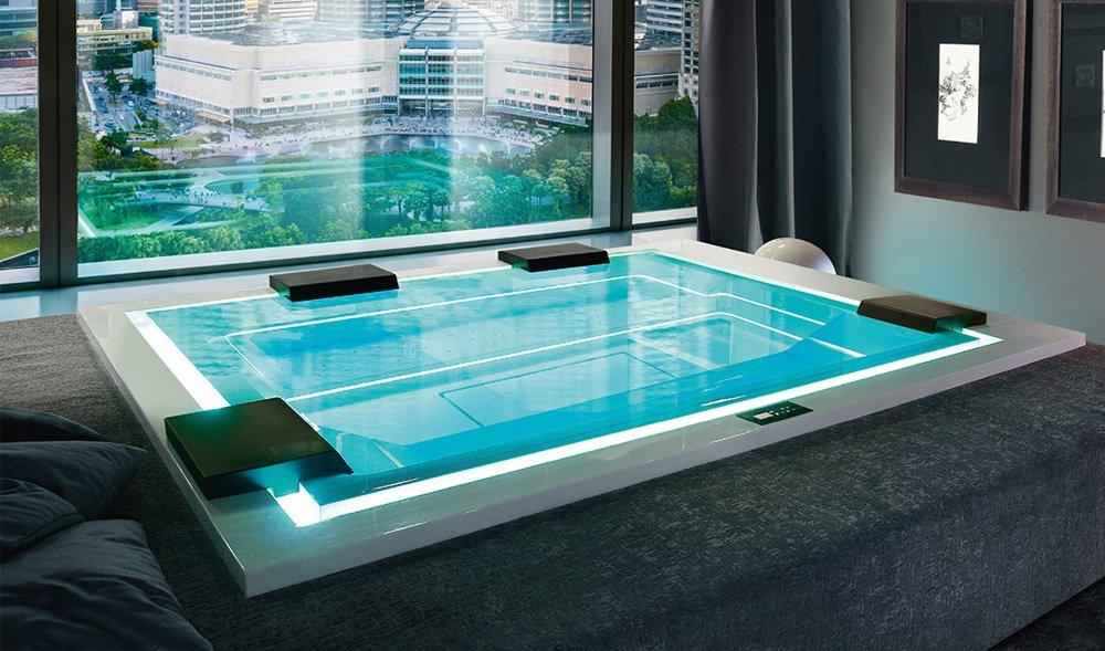 Mini-piscina Zen Active con sistema brevettato GhostSystem®